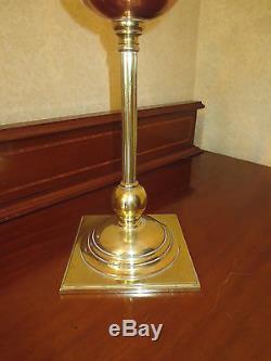 Victorian Duplex Oil Lamp W A S Benson Hinks With Original Vaseline Glass Shade