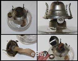 Victorian East Lake Cast Iron Wall Bracket Oil Lamp w Mercury Reflector Antique