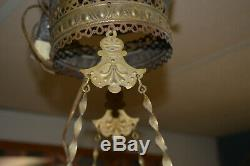 Victorian Electrified Hanging Oil Lamp
