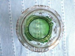 Victorian Glass Etched Lamp Shade Green Jct25 M5
