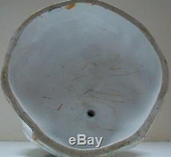 Victorian Large Porcelain Owl Oil Lamp Base