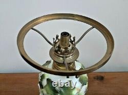 Victorian Porcelain 3 Owls Nursery Oil Lamp French Gaudard Burner