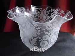 Victorian St Louis Crystal Duplex Oil Lamp Shade. 4 fit