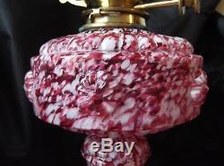 Victorian Stourbridge Duplex Oil Lamp. End Of The Day Glass. Superb Lamp