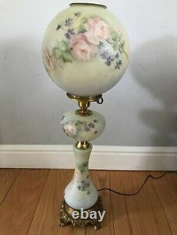 Victorian Tall Antique Victorian Tall Parlor Oil Lamp