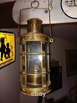 Vintage Brass Minors Oil LampAntique Maritime Ship Lantern Nautical Boat Light