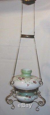 Vintage Victorian Style Hanging Oil Lamp Chandelier Light Fixture Nice! LQQK