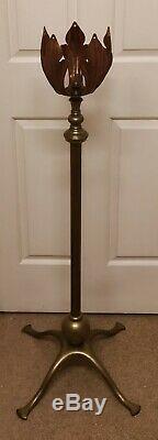 Was Benson Standard Copper And Brass Telescopic Oil Lamp