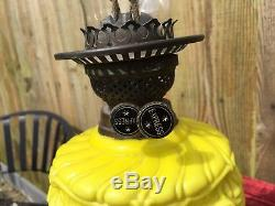 Yellow Tulip Express Oil Lamp And Shade